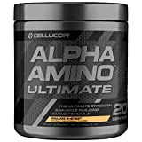 Cellucor Alpha Amino Ultimate EAA & BCAA Recovery Powder + HMB, Essential & Branched Chain Amino Acids For Post Workout Hydration, Orange Sherbet, 20 Servings