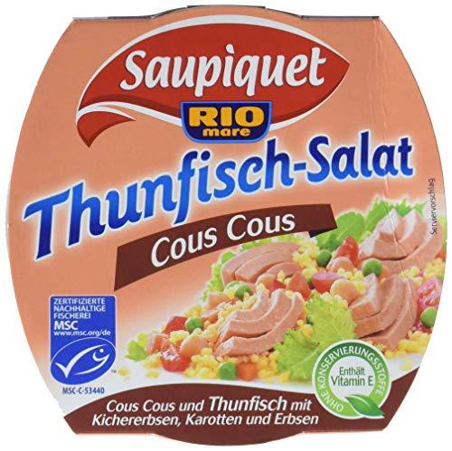 Saupiquet Rio Mare Thunfisch-Salat Cous Cous, MSC zertifiziert, Fix und fertig zubereitet, Ideal für unterwegs, 160g