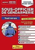 Concours Sous-officier de gendarmerie - Catégorie B - Tout-en-un - 20 tutos offerts -Gendarme externe, interne et 3e voie - Nouveau concours 2020-2021