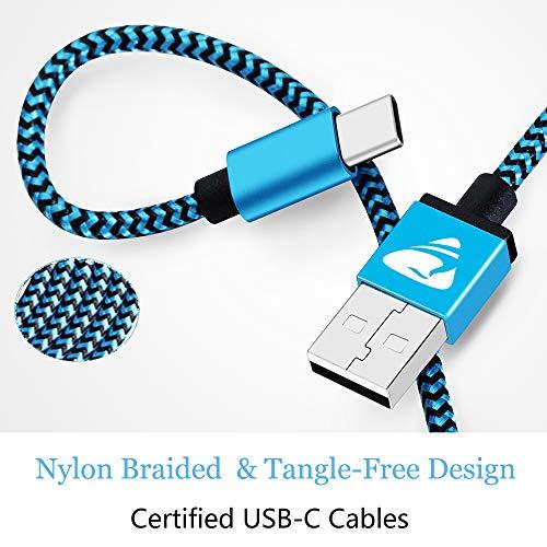 USB C Kabel Fast Ladekabel Typ C Aioneus 3Pack 2M Schnellladekabel für Samsung Galaxy S20 FE A51 A50 A40 A41 A71 A70 A20E A21s S8 S9 S10 S20 Plus M21 M31 Note 8, Huawei P30 Lite P20 Pro, Sony, Redmi