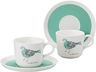 NARUMI(ナルミ) カップ ソーサー セット アンナ・エミリア とり ティーコーヒー兼用 ペアセット 220cc 電子レンジ温め 食洗機対応 96697-23167P