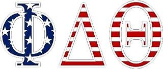 Theta Delta Chi American Flag Greek Letter Sticker - 2.5