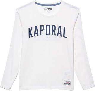 Kaporal - T-Shirt régular garçon brodé sur la Poitrine en 100% Coton - Obeli - Garçon
