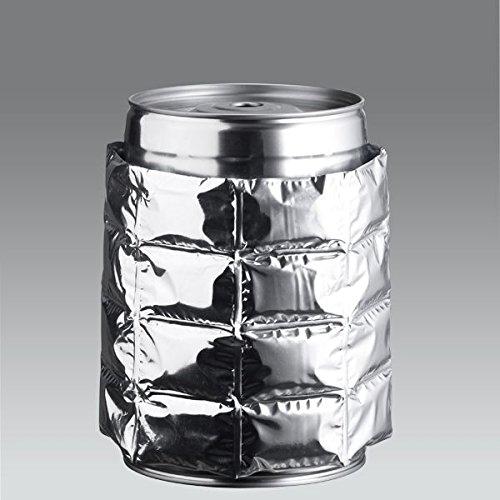 ich-zapfe.de Kühlmanschette, Kunststoff, Silber, 20 x 15 x 2 cm