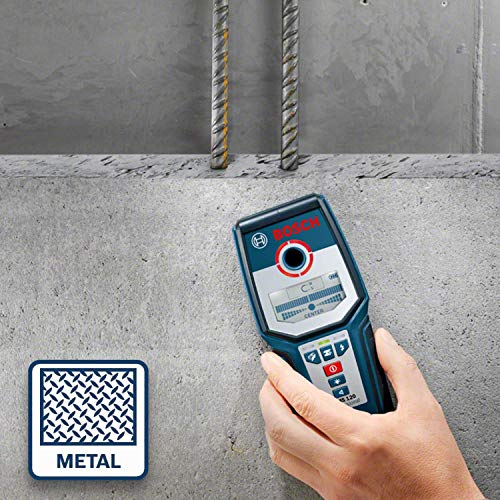 Bosch Professional Digitales Ortungsgerät GMS 120 (1 x 9 V Block Batterie, Schutztasche, max. Ortungstiefe Stahl/Kupfer/stromführende Leitungen: 120/80/50 mm) - 5