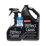 HOPE'S Perfect Glass Cleaner 2 Piece, 32 Ounce Spray 67.6 Ounce Refill Bottle, Bundle, 99 Fl Oz