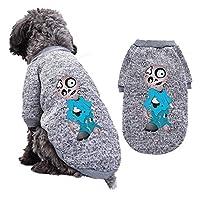 かわいいハロウィンテディコスチュームパンプキンペット犬のセーターセーターペット猫服秋と冬のペット用品 (M,A6)