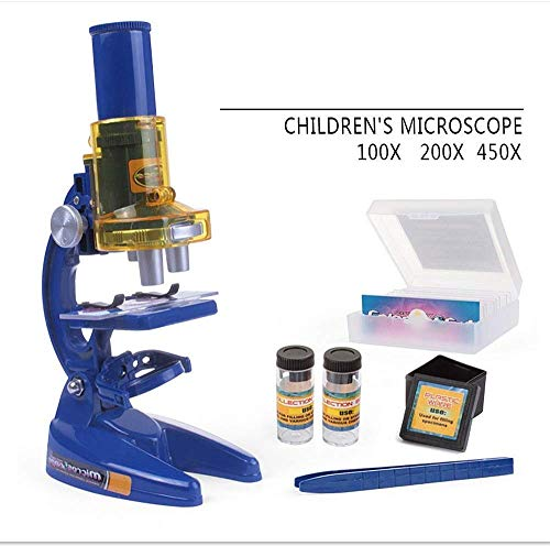Jszzz Kinder Anfänger Mikroskop, Wissenschaft Mikroskop-Kits for Kids Anfänger Mikroskop Kit LED Multi Vergrößerung Kinder Wissenschaft Spielzeug
