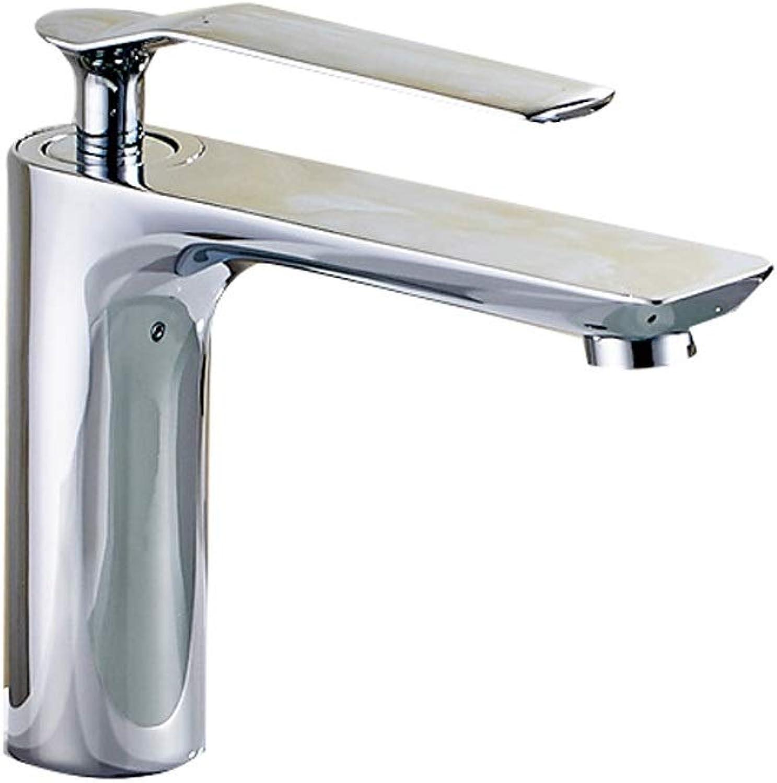 Fanxu Bathroom Sink Faucet, Pure Copper Single Handle Single Hole Faucet (3 colors) (color   Electroplating)