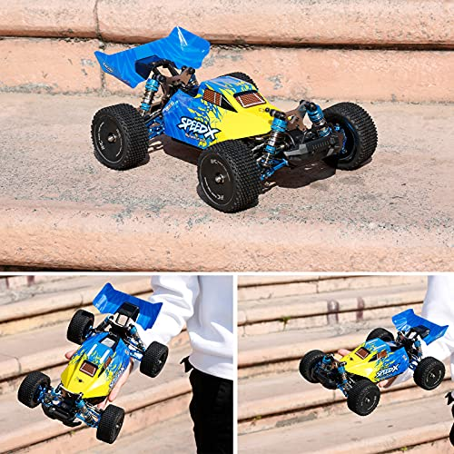 Goolsky F16 1/14 Ferngesteuertes Auto RC Car Legierungsrahmen 4WD Offroad Car 60 km / h Hochgeschwindigkeits-Rennwagen 1600 mAh Batterie 2,4 GHz RC Buggy Drift Car
