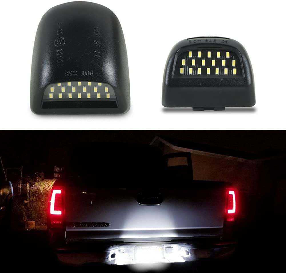 White LED License Max 85% OFF Plate Tag Light Chevy for Silverado 2021 new 1500 Lamp