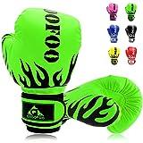 Kids Boxing Gloves 4oz Punching Gloves for Kids 3-6 Traning Gloves for Punching Bag Kickboxing Sparring Muay Thai MMA Fight Gloves - Green