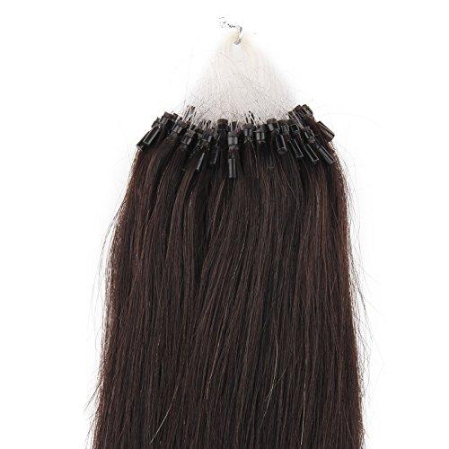 Beauty7-50 STK Echthaarstraehnen Remy Echthaar Haarverlaengerung Loop Micro Ring Microring Haare 55cm Echthaar Extensions 1g Straehnen 22
