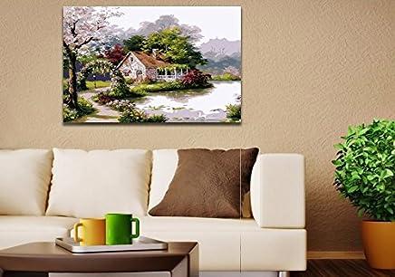 Quadro Canvas Decorativo De Sala Casa Do Lago