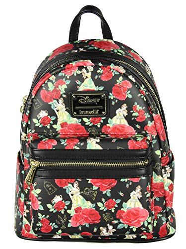 Loungefly Disney Beauty And The Beast Belle Roses Mini Backpack