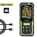 Huepar Distanziometro Laser con Fotocamera 2X/4X Zoom, 200M Alta Precisione Ricaricabile Misura...