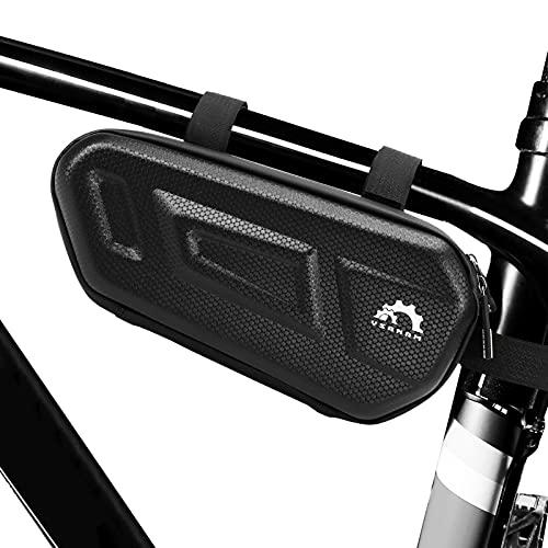 Flytise Bolsa para cuadro de bicicleta debajo de la parte superior del tubo, bolsa de almacenamiento para bicicleta Mounta