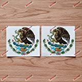 Mexican Eagle Coat of arms Mexico Vinyl Decal Sticker - 2 Pack Reflective, 4 Inches - for Car Boat Laptop Cup 05230