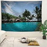YOYNZY Tapestry Bali Hermoso Paisaje Tapiz Bohemian Beach Sea Tapiz Tapiz Decoración del Dormitorio Colgante De Pared D para Dormitorio Sala De Estar Decoración del Hogar-150X200Cm