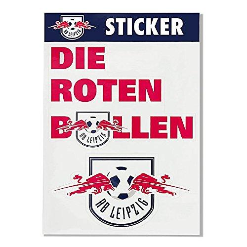 RB Leipzig Aufkleber/Sticker 2er Set Logo Plus Die Roten Bullen - Rasenballsport Leipzig