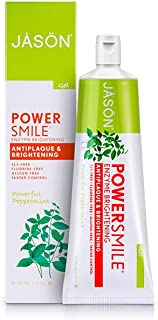 Jason Powersmile Enzyme Brightening Gel Toothpaste Fluoride-free, 4.2 Ounce