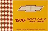 1970 Chevy Monte Carlo & SS Owner's Manual Reprint