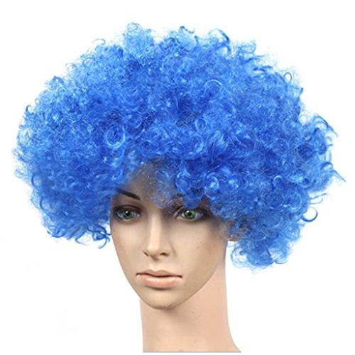 Lot de 2 Halloween Costume Party Clown Perruques cheveux, bleu royal