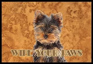 Caroline's Treasures Yorkie Puppy/Yorkshire Terrier Wipe Your Paws Indoor or Outdoor Mat, 18