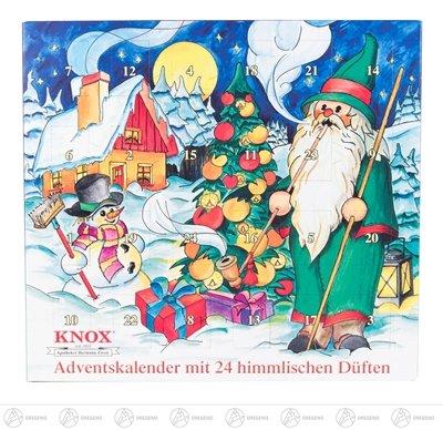 KNOX Adventskalender 24 hemelse geuren breedte x hoogte x diepte 24 cm x 26 cm x 1,5 cm NIEUW Ertsgebergte wierookkegel