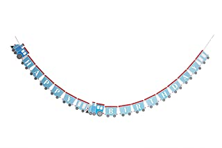 Lovely BITON? Blue Happy Birthday Banner Like a Train Decorations Banner Colorful Party Supplies Bunting for Girl and Boy