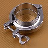Joyfulstore- New 2.5 Inch Silver Stainless Steel 304 V Band Flange Clamp Kit Turbo Exhaust Down Pipe With Diameter About 63Mm