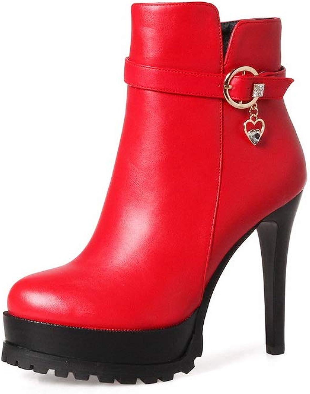 1TO9 Womens Spikes Stilettos Platform Metal Buckles Urethane Boots MNS03251