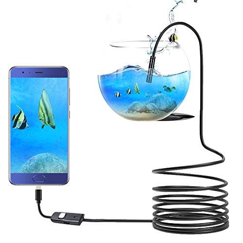 Endoscoop, high-definition Android endoscoop hand-industrie endoscoop camera waterpijp camera USB-endoscoop met 6 LED-lampen 1,3 megapixel IP67 waterdicht diameter 5,5 mm geschikt voor Android mobiele telefoons en pc (2 meter), 1.5 Meter, 1
