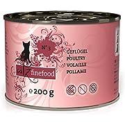 catz finefood N° 3 Geflügel Feinkost Katzenfutter nass, verfeinert mit Preiselbeeren & Löwenzahn, 6 x 200g Dosen