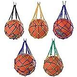 ysister 5 pièces Sac Filet de Ballon, Sac Filet de Football Portable, Tissés à la Main Sac de Basketball, Sac De Balle De Basket Poche Filet, pour Ballon de Football de Volley-Ball