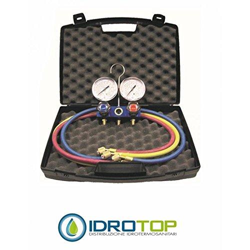Gasdruckmessgerät für Kühlgas R32-410-3 TF- mit Koffer – Idrotop