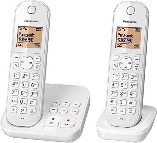 Panasonic KX-TGC422FRW - Teléfono (Teléfono DECT, Terminal inalámbrico, Altavoz, 120 entradas, Identificador de llamadas, Blanco)