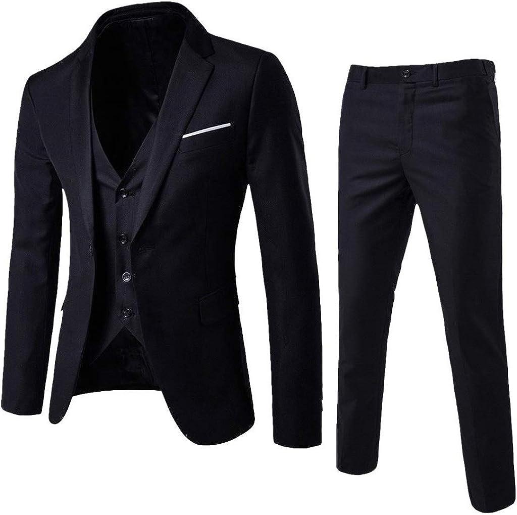 Men's Suit 5% OFF Slim Fit One 3-Piece Bu Nashville-Davidson Mall Dress Button Blazer