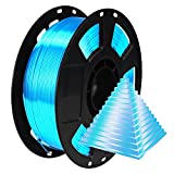 BBLIFE Silk Acid Blue PLA Peacock Blue Pearlescent Shining 3D Printing Material, 1kg 2.2lbs 1.75mm...