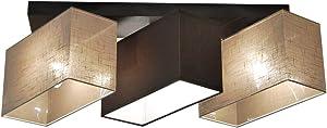 Plafoniera, illuminazione a soffitto in legno massiccio JLS3162D illuminazione per salotto, per cucina, per sala da pranzo, per soggiorno