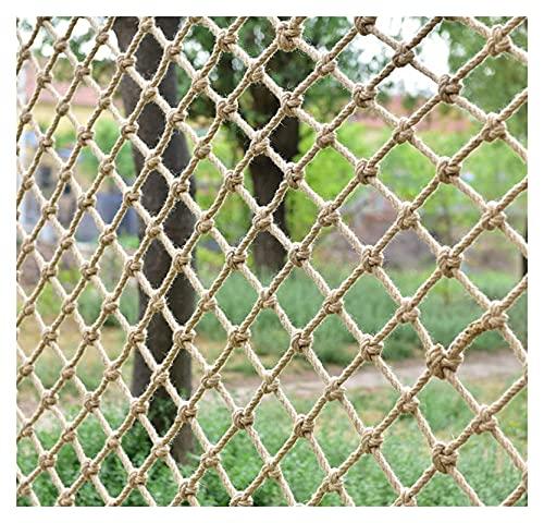 Cuerda de cáñamo Neto de carga, red de seguridad para barandilla, red de escalada de servicio pesado, neta protectora de la escalera de niños, campo de juegos al aire libre Hamaca de cerca Pets de seg