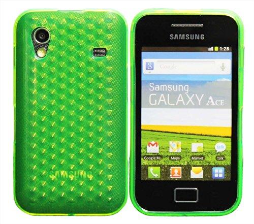 Luxburg® Diamond Design Schutzhülle für Samsung Galaxy Ace GT-S5830 in Farbe Smaragd Grün, Hülle Case aus TPU Silikon