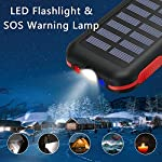 Solar Power Bank Portable Phone Charger 25000mAh【2020 Newest Solar Charger】Battery Pack Water-Resistant 3 Output Ports… 4