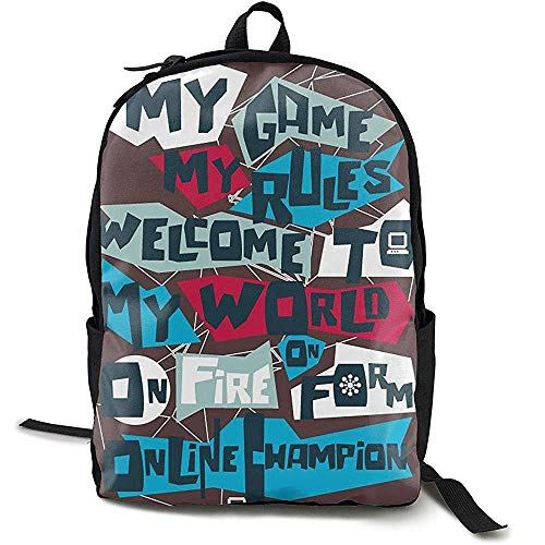 Kimi-Shop Mochila Escolar My World 3D Adult Outdoor Leisure Mochila Deportiva