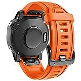 ANBEST Pulsera de Silicona Compatible con Fenix 6S/Fenix 6S Pro/Fenix 5S Correa, 20mm de Repuesto Deportiva Liberación Rápida Banda para Fenix 5S Plus/D2 Delta S Smart Watch, Naranja