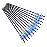 DMAR Crossbow Bolts Arrows Practice Arrows Hunting Archery Carbon Crossbow Bolt Lightweight Carbon Shafts Pack of 12pcs Carbon Spine 500 for Competition/Practice Hunting/Archery Accessories- 22 Inches