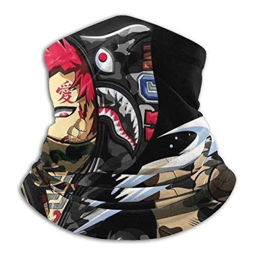 Anime Naruto Tube Neck Warmer Weiche Kopfbedeckung Face Scarf Cover Shield für kaltes Wetter Winter Outdoor Sports Schwarz