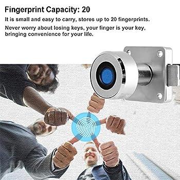 Serrure biométrique Intelligente d'empreinte Digitale, Serrure électronique d'empreinte Digitale de sécurité, 20 Empreintes digitales en Alliage sans clé Serrure d'empreinte Digitale