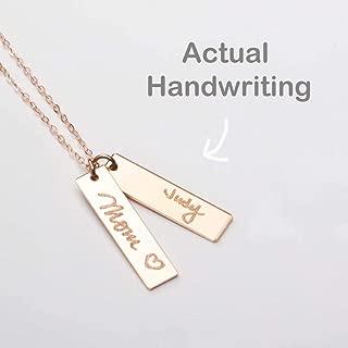 Custom Handwriting Bar Necklace (CG317N).