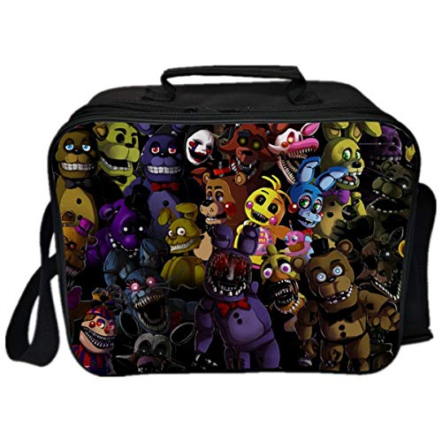 GD-Clothes Kids Five Nights at Freddys Lunch Boxes-Boys Insulated Lunch Box Waterproof Lunch Bag for SchoolPicnic